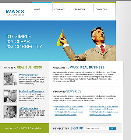 Sample Web Page Template. free website templates. best 20 free ...